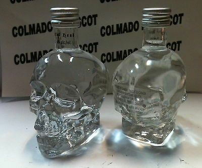 VODKA CRYSTAL HEAD 50ml 40% CANADA glass miniatura mignonette minibottle
