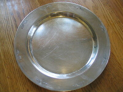 1916 Antique Sterling Silver 10 in Dinner Plate