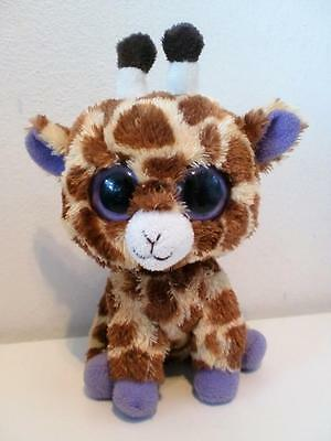 "Ty Beanie Boos Plush Soft Toy Doll Safari The Giraffe 6"" Tall"