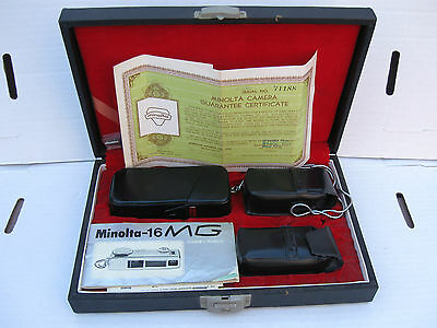 Minolta  - 16 MG  Vintage Camera In Case With Accessories & Papers  Subminiature