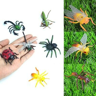 Cute Plastic Insects Bug Animals Figures Scorpion Locust Cricket Ant Kids Toy