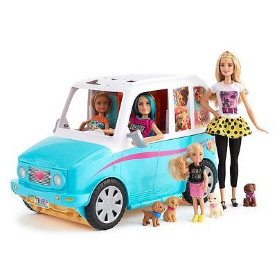 Barbie Ultimate Puppy Mobile &Barbie, Skipper, Stacie and Chelsea Dolls Gift Set