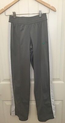 NIKE Sz L Gray Athletic Pants White Trim Sweat Pants Large Unisex
