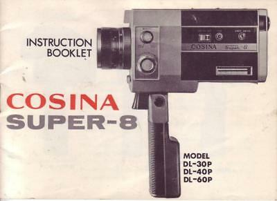 Cosina Super-8 Instruction Booklet