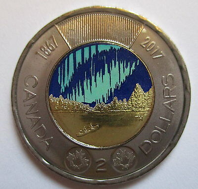 2017 Canada $2 Glow In The Dark 1867-2017 150Th Anniversary Of Canada Proof-Like