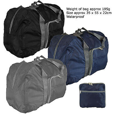 Large Lightweight Hand Folding Cabin Luggage Flight Bag Holdall Overnight Travel