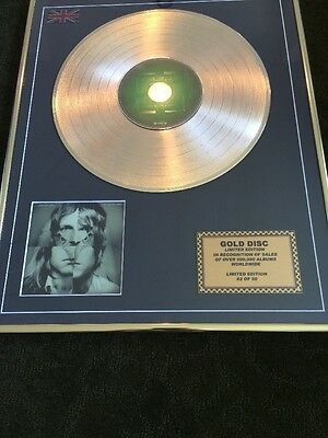 Kings of Leon / Ltd Edition CD Gold Disc / Record / Only By the Night No 2 Of 50