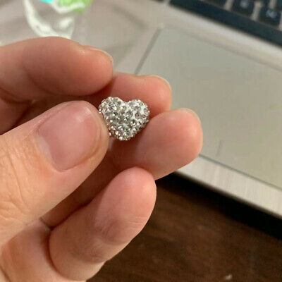 Heart Shape!20Pcs 9x10MM Polymer Clay Full Rhinestone Shamballa Pave Disco Balls