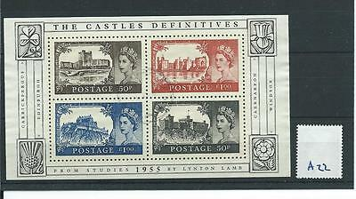 wbc. - GB MINIATURE SHEET - A22 - 2005 - CASTLES DEFINITIVES - FINE USED