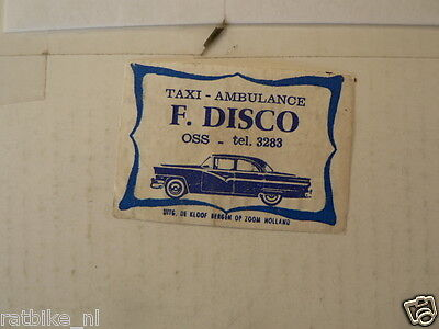Lucifers,matchbox Labels F Disco Oss Taxi Ambulance Classic Car