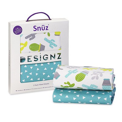 Snuz Crib Fitted Sheets - Rootin' Tootin' Cowboy Print (Fits SnuzPod and Chicco