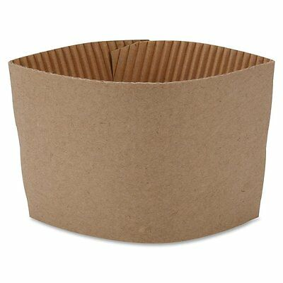 100 x Coffee Clutches Sleeves Kraft Cardboard Suitable for 8oz and 9oz Cups