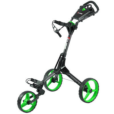 Cube 3-Wheel Golf Push/Pull Trolley Black/Green
