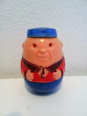 Vintage Airfix Weebles Blue Hat Man Boy Wobble Toy Figure 1970s