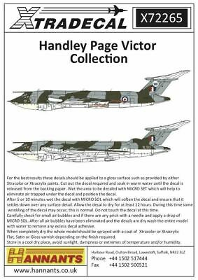 Xtradecal X72265 1/72 Handley Page Victor Collection Model Decals