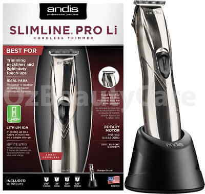 Andis Slimline Pro Li Professional Cord/Cordless T-Blade Hair Trimmer D8
