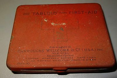 Vintage Burroughs Welcome & Co. FIRST AID KIT-medicine tin