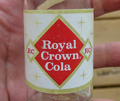 Rare 1960's NDNR Canadian RC COLA 4oz bottle - Royal Crown  FREE SHIPPING!