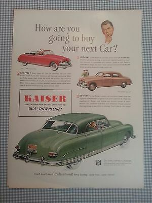 1949 Kaiser Frazer Life Magazine Advertisement Dextrose Superior Peaches AD