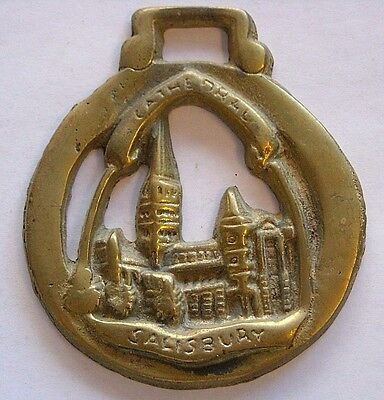 Vintage Horse Tack Brass Bridle Ornament~Salisbury Cathedral