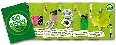 Go Green set of 52 playing cards + jokers (ix)