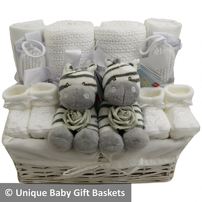 Beautiful twin baby gift basket/hamper baby shower twins boy girl neutral unisex