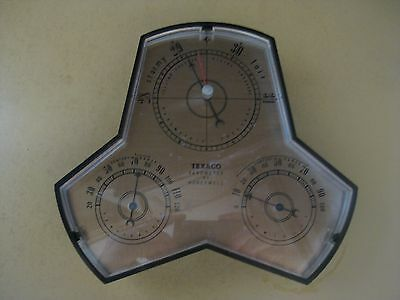 VINTAGE 1960's PROMO TEXACO BAROMETER BY HONEYWELL OIL GAS STATION TYPE
