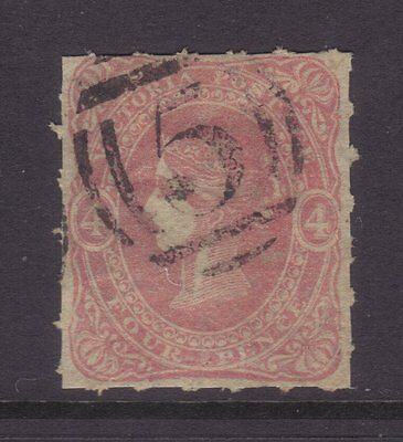 Victoria Sg 95c,Sc#64; 4d Rouletted Beaded Oval Superb VFU. cv $450