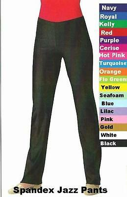 Spandex Long Jazz Pants Dance Costume Hip Hop Tap Color and Sz Choice Clearance