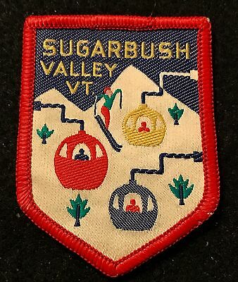 SUGARBUSH VALLEY Vintage Skiing Ski Patch VERMONT VT Resort Souvenir Travel
