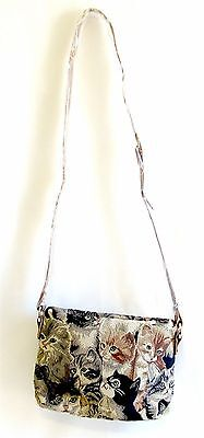 Tapestry Signare Cats & Kittens - Crossbody Bag/Pouch - Shoulder Bag