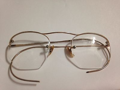Antique SHURON 1/10 12K Gold Filled Wire Rim Glasses
