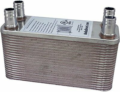 Duda Energy HX1240:M34 B3-12A 40 Plate Stainless Steel Heat Exchanger with 3/4""