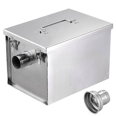 Yescom 8lbs 4GPM Gallon Per Minute Stainless Steel Grease Trap Interceptor