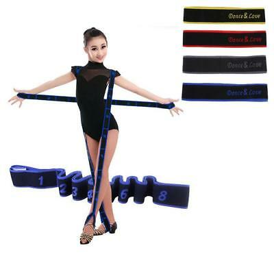 Flexibility Yoga Belt with 8 Loops, Dance Training Strap for Children Dancer