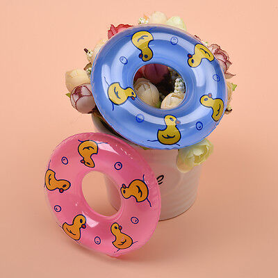 2Pc Doll Swimming Life Buoy Lifebelt Ring for Barbie Dolls House Miniature 9 cm