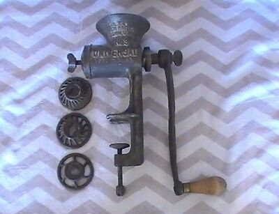Cast Iron Meat Grinder / Universal Food Chopper No. 3 New Britain Conn USA 1899!