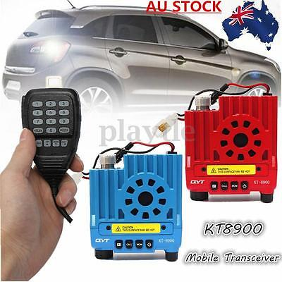 QYT KT8900 136-174/400-480MHz Dual Band 25W Mobile Radio Transceiver Red Blue AU