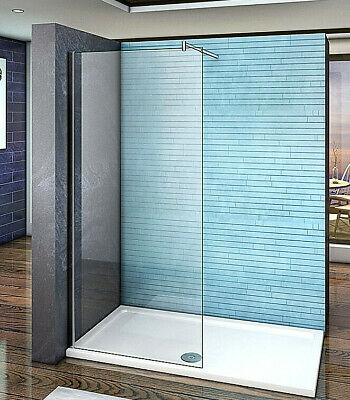 Aica Wet Room Shower Screen Enclosure Panel Walk In 8mm NANO Glass 1200mm Bar