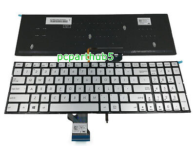 for ASUS UX52 UX52A Q501 N541 N501 Silver US Laptop Backlit Keyboard