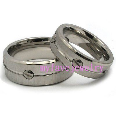 Wending 316L Stainless  Steel Shiny Ring Men Women