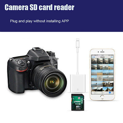 Lightning To SD Card Reader For iPhone iPad Support TF High-capacity Data Import