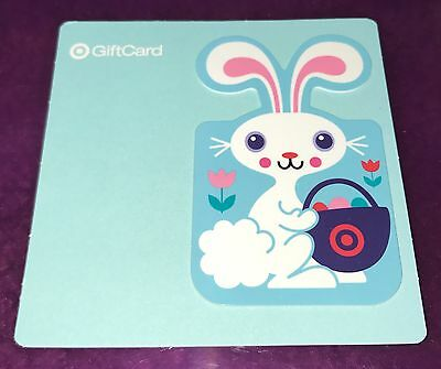 Target Collectible Die Cut Gift Card Easter Bunny W Flowers Blue No Value New