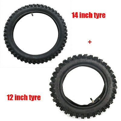2.50-14 and 3.00-12 Front and Rear Tyre Tire and Tube for Dirt Bike Motorcycle