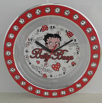Betty Boop Diamante Wall Clock Genuine Product