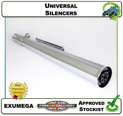 New Universal Silencer Motorcycle Exhaust Chrome Megaphone (R/l) Exumega