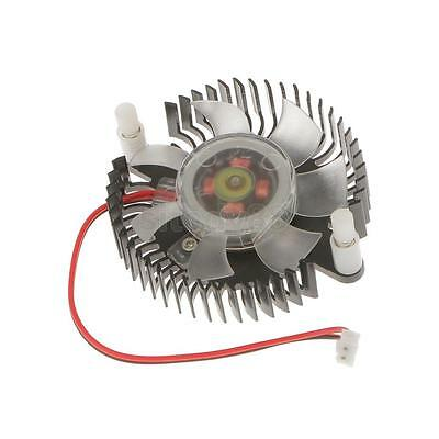 Alumium 55mm Hole Round Heatsink Computer VGA Card Cooling Fan Cooler Black