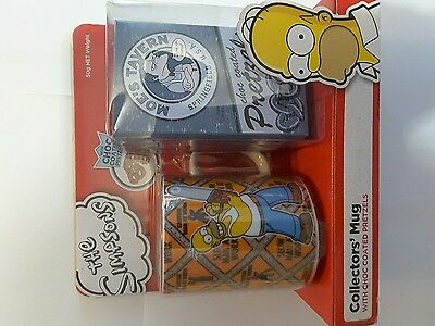 simpsons mug coffee cup gift pack collector item collectors brand new sealed