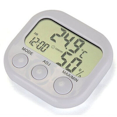 New Temperature Digital Lcd Indoor/Outdoor Thermometer Hygrometer White