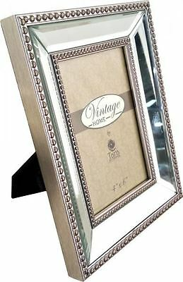 New Home Stylish Reflections Mirrored Photo Frame 4x6cm Gifts Bedroom Accessory